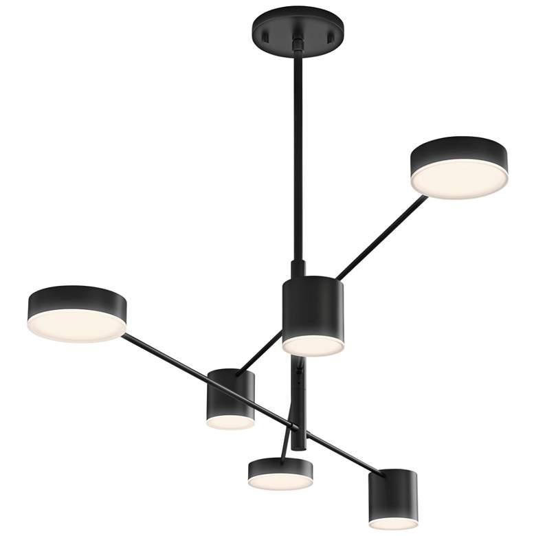 "Sonneman Counterpoint™ 45""W Satin Black 6-Light LED Pendant"