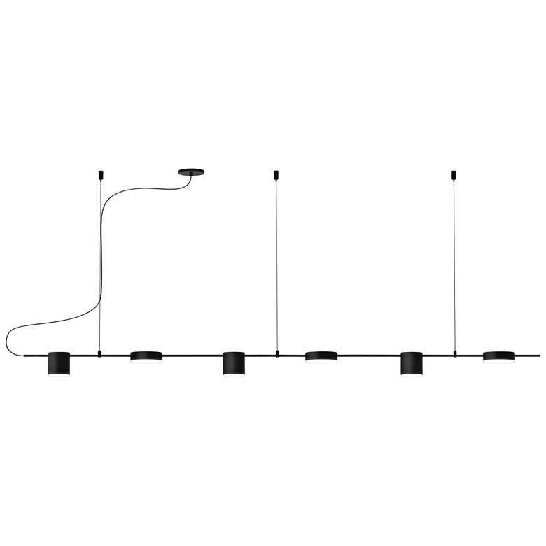 "Counterpoint 63 3/4""W Black LED Kitchen Island Light Pendant"
