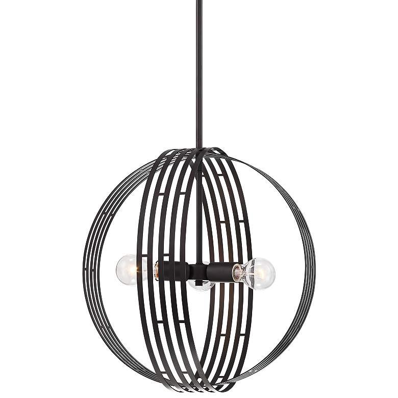 "Possini Euro Illusion 17 3/4""W Bronze 3-Light Orb Pendant"
