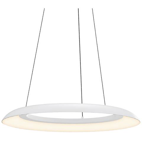 """Sonneman Torus™ 24"""" Wide Satin White LED Pendant Light"""