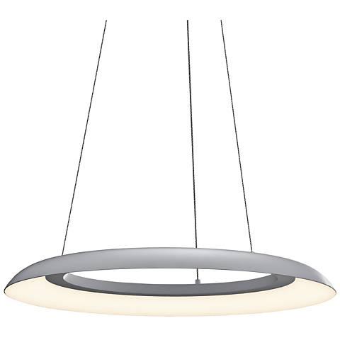 """Sonneman Torus™ 24"""" Wide Dove Gray LED Pendant Light"""