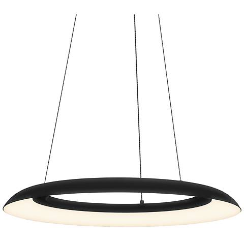 "Sonneman Torus™ 24"" Wide Satin Black LED Pendant Light"