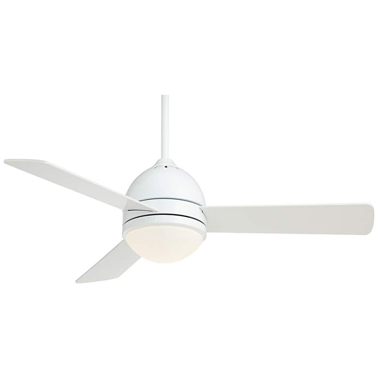 "44"" Casa Vieja Trifecta™ White LED Ceiling Fan"