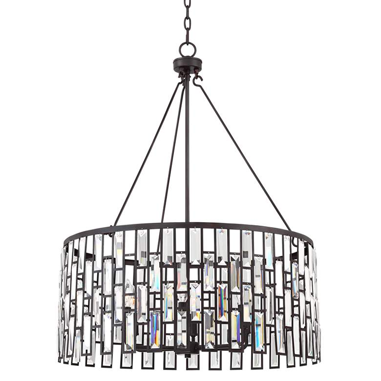 "Aurelia 26 3/4"" Wide Bronze with Clear Glass Pendant Light"