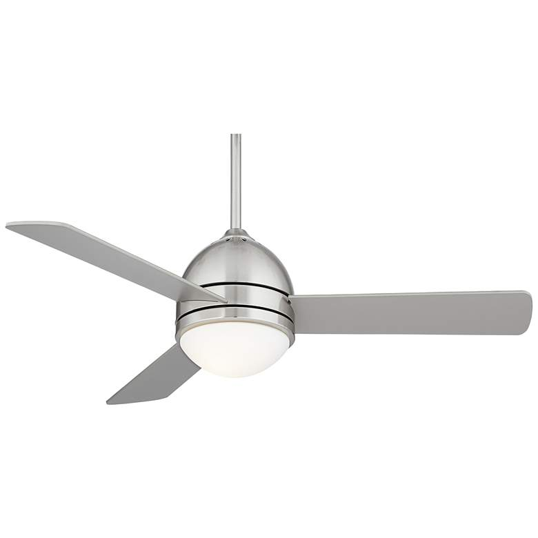 "44"" Casa Vieja® Trifecta Brushed Nickel LED Ceiling Fan"