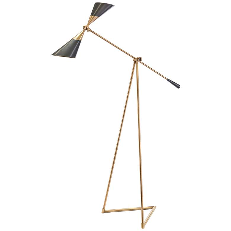 John Richard Brass Pivoting Floor Lamp