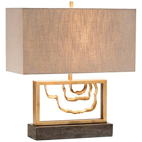 John Richard Golden Stack Arch Accent Table Lamp