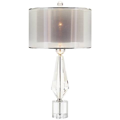John Richard Sophisticated Crystal Double Shade Table Lamp