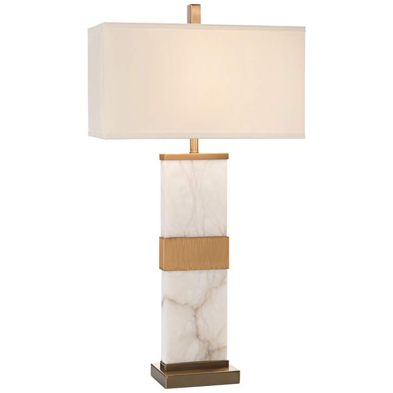 John Richard Alabaster Column Table Lamp