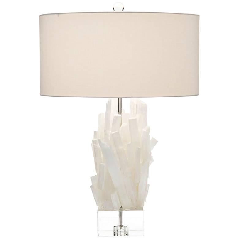 John Richard Selenite II White Table Lamp