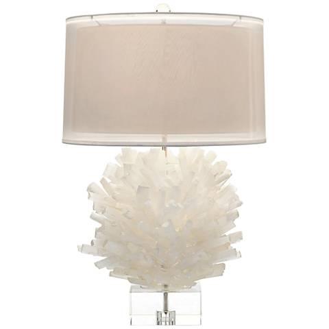 John Richard Selenite I White Table Lamp