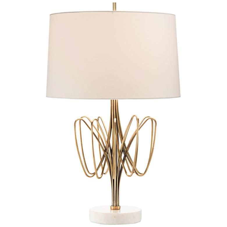 John Richard Twisted Brass Bloom Table Lamp