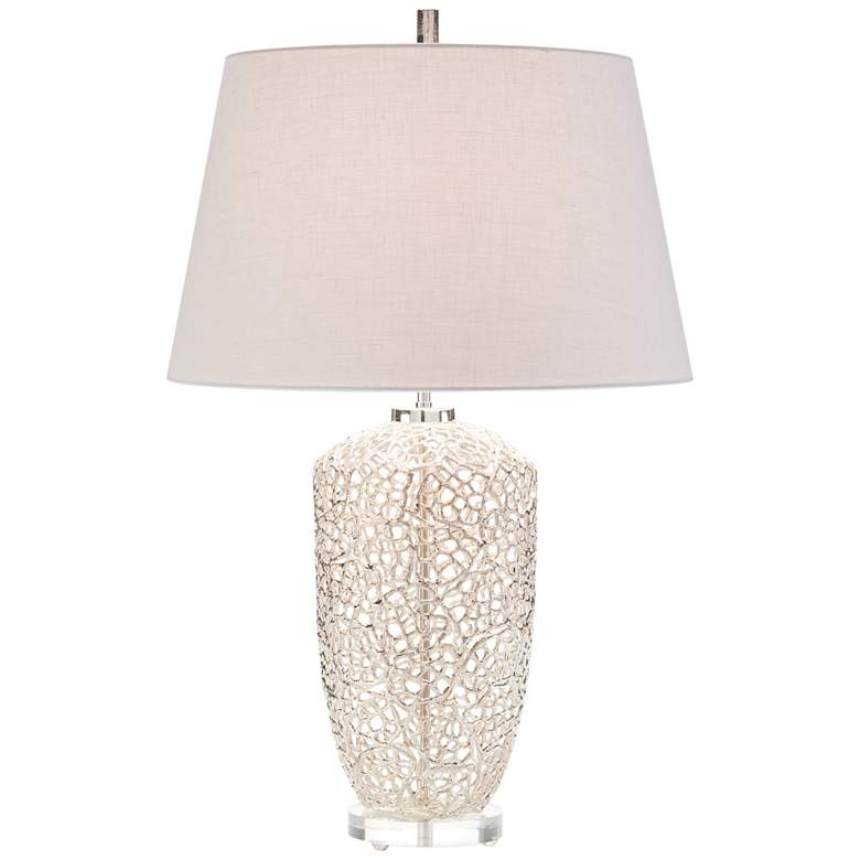 John Richard Silver Vines Nickel-plated Table Lamp