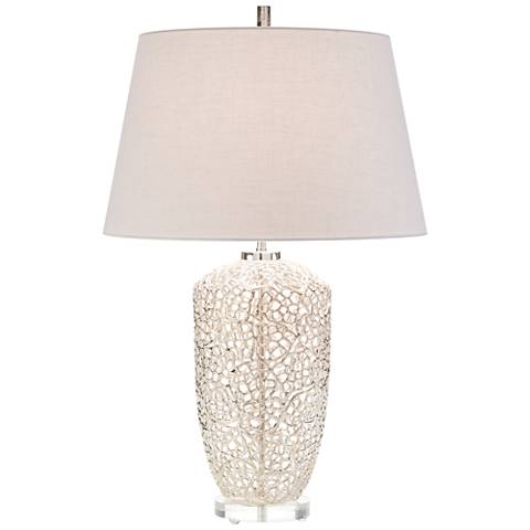 John Richard Silver Vines Nickel-plated Table Lamp