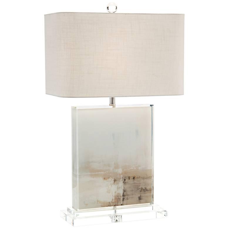 John Richard Dune Tan and Off-White Table Lamp