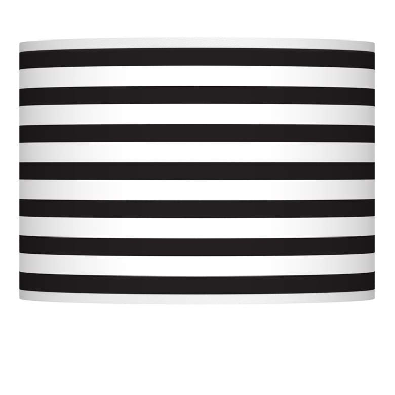 Black Horizontal Stripe Giclee Shade 13.5x13.5x10 (Spider)