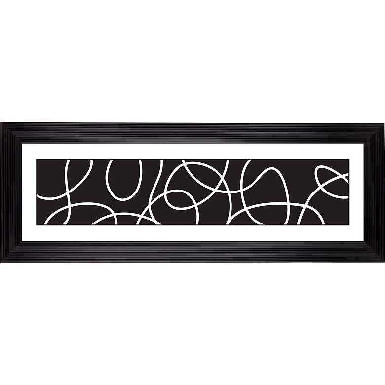 """Giclee Abstract Stepped Strip 52 1/8"""" Wide Wall"""