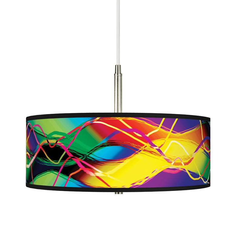 Colors in Motion Giclee Pendant Chandelier