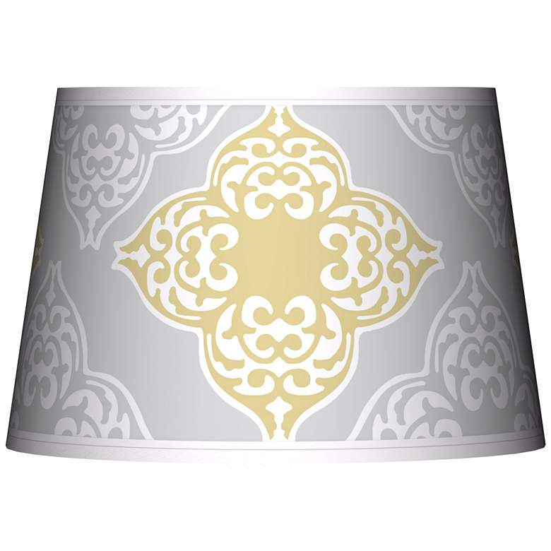 Aster Grey Giclee Tapered Lamp Shade 13x16x10.5 (Spider)