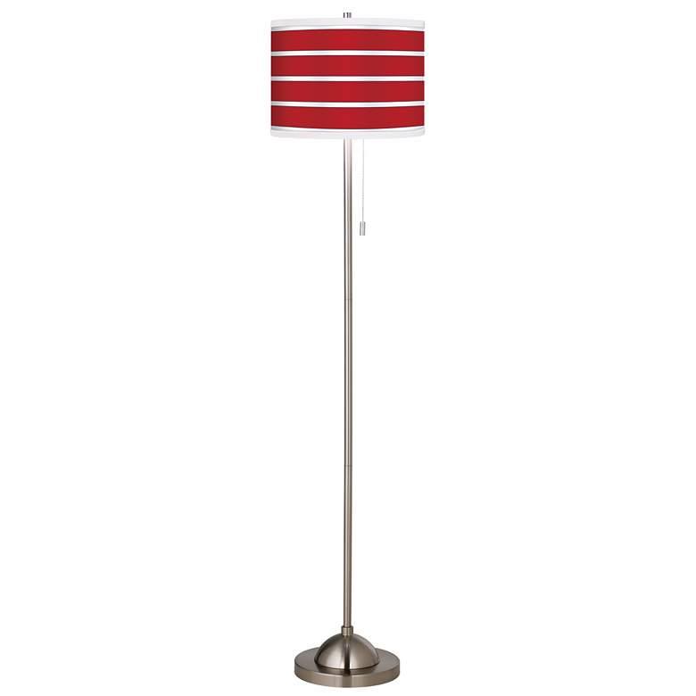 Giclee Bold Red Stripe Floor Lamp