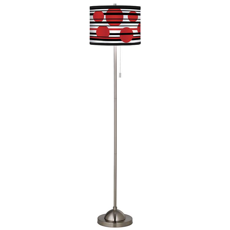 Giclee Circles and Lines Shade Floor Lamp