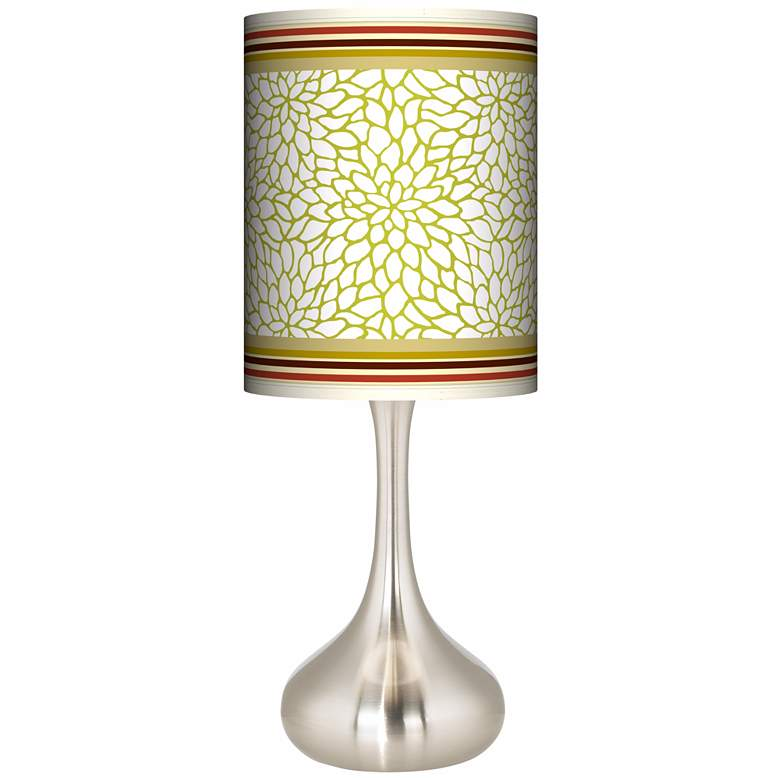 Stacy Garcia Lemongrass Dahlia Giclee Kiss Table Lamp