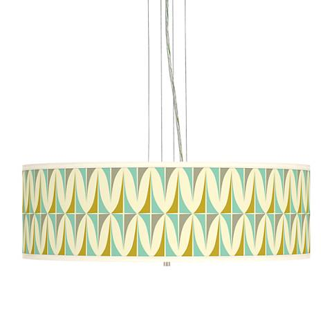 "Vernaculis I Giclee 24"" Wide 4-Light Pendant Chandelier"