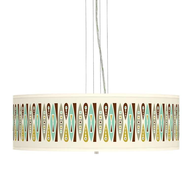 """Vernaculis II Giclee 24"""" Wide 4-Light Pendant Chandelier"""