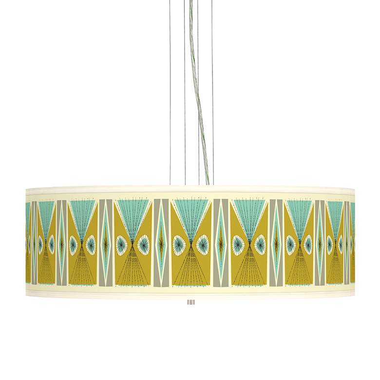 "Vernaculis III Giclee 24"" Wide 4-Light Pendant Chandelier"