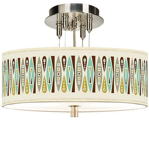 "Vernaculis II Giclee 14"" Wide Ceiling Light"