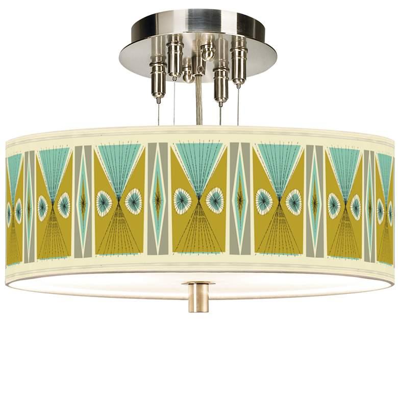 "Vernaculis III Giclee 14"" Wide Ceiling Light"