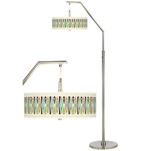 Vernaculis II Giclee Shade Arc Floor Lamp