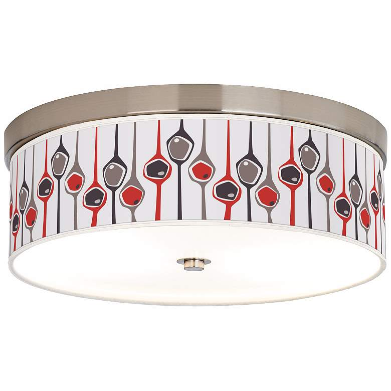 "Shutter 14"" Wide Giclee Energy Efficient Ceiling Light"