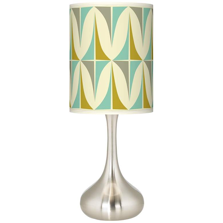 Ragnar Vernaculis I Brushed Nickel Droplet Table Lamp