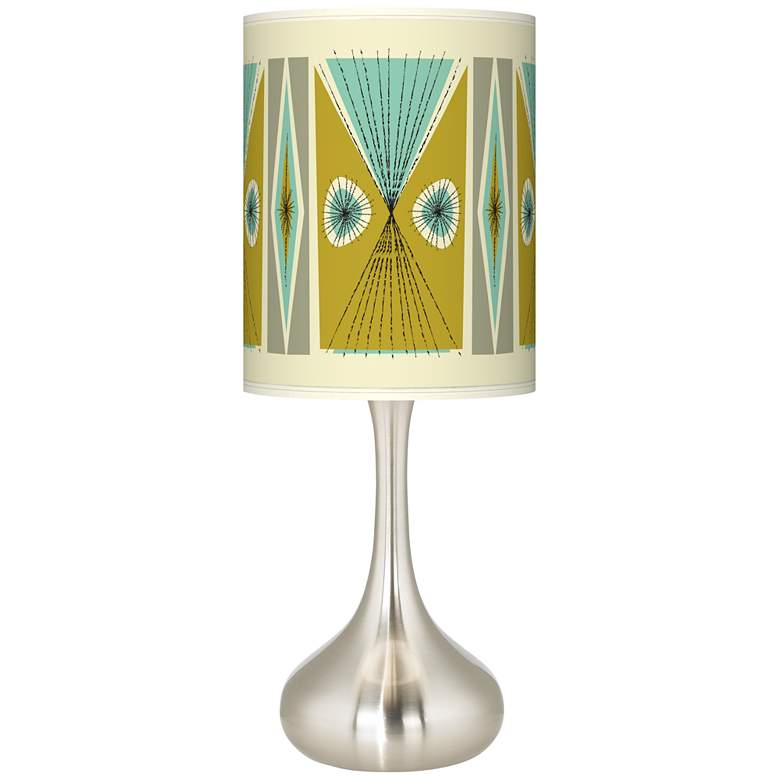 Brushed Nickel Droplet Table Lamp with Translucent Shade