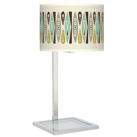 Vernaculis II Glass Inset Table Lamp