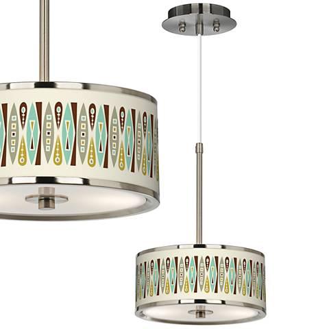 """Vernaculis II Giclee Glow 10 1/4"""" Wide Mini Pendant"""