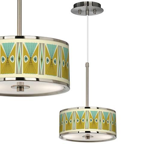 """Vernaculis III Giclee Glow 10 1/4"""" Wide Mini Pendant"""