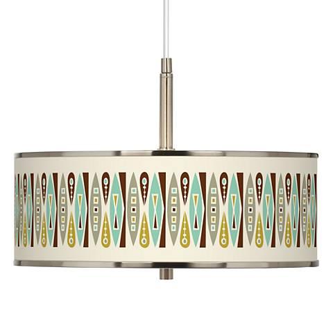 """Vernaculis II Giclee Glow 16"""" Wide Pendant Light"""
