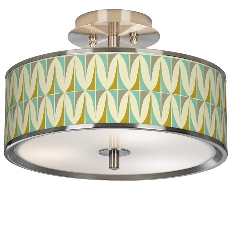 """Vernaculis I Giclee Glow 14"""" Wide Ceiling Light"""