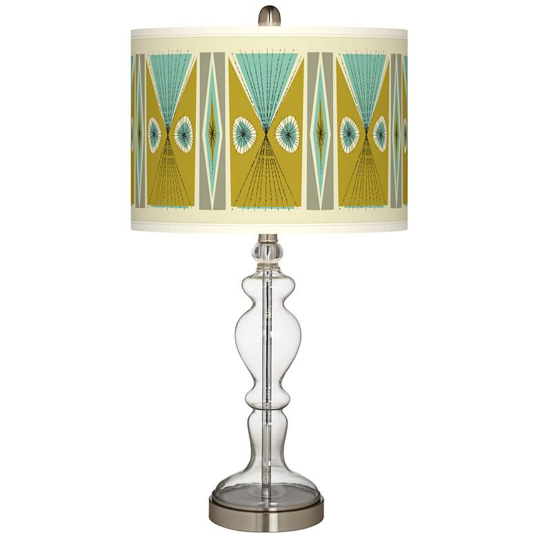 Vernaculis III Giclee Apothecary Clear Glass Table Lamp