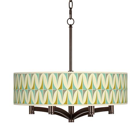 Vernaculis I Ava 6-Light Bronze Pendant Chandelier