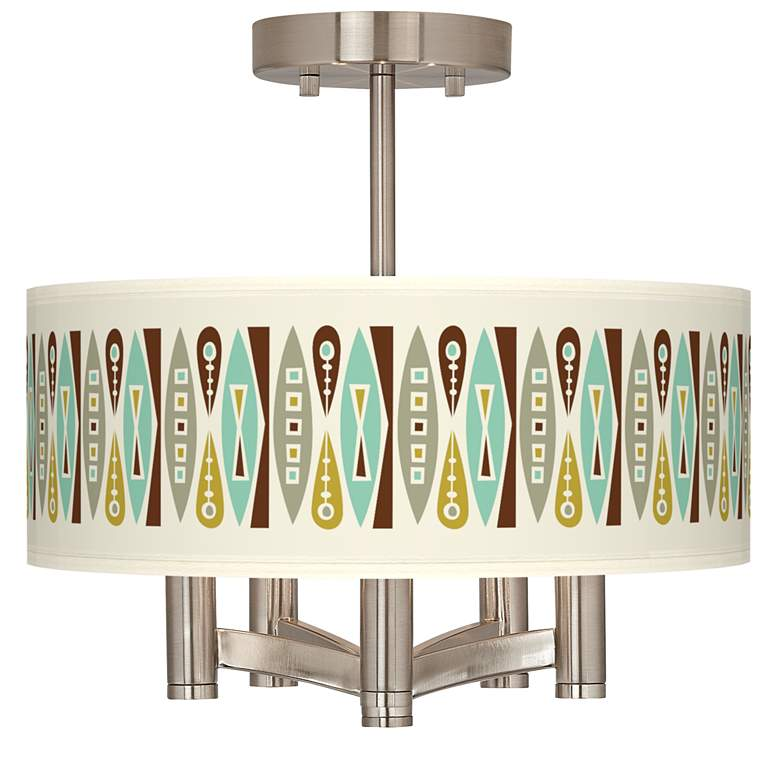 Vernaculis II Ava 5-Light Nickel Ceiling Light