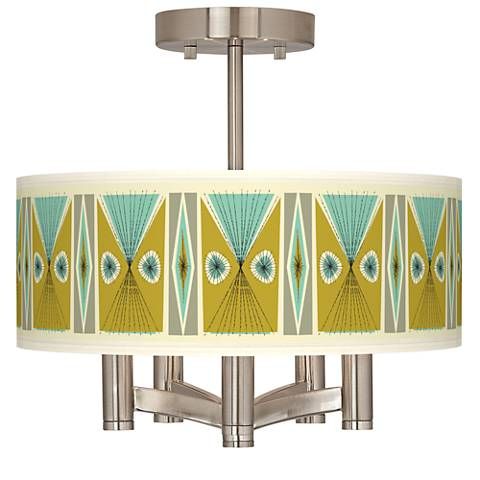 Vernaculis III Ava 5-Light Nickel Ceiling Light