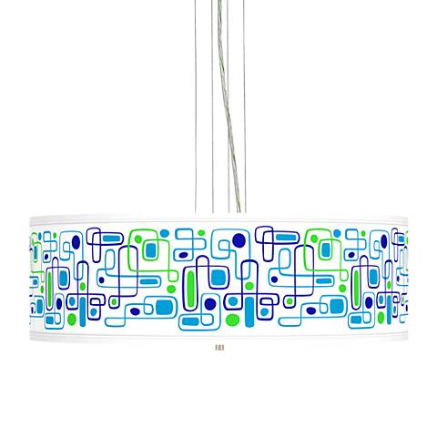 "Racktrack Giclee 24"" Wide 4-Light Pendant Chandelier"