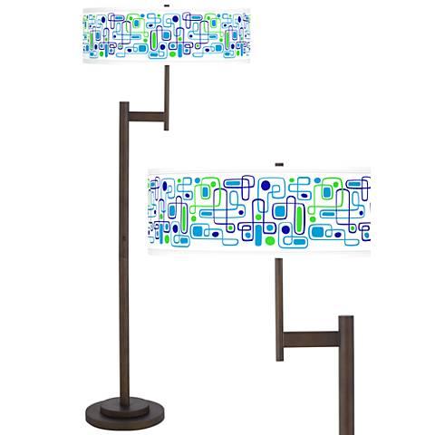 Racktrack Giclee Parker Light Blaster™ Bronze Floor Lamp