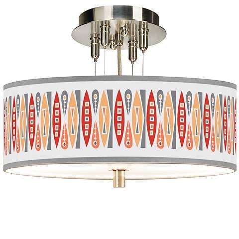 "Vernaculis VI Giclee 14"" Wide Ceiling Light"