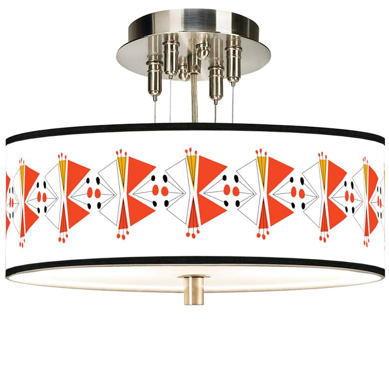 """Lexiconic III Giclee 14"""" Wide Ceiling Light"""