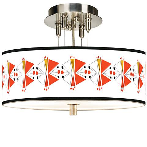 "Lexiconic III Giclee 14"" Wide Ceiling Light"