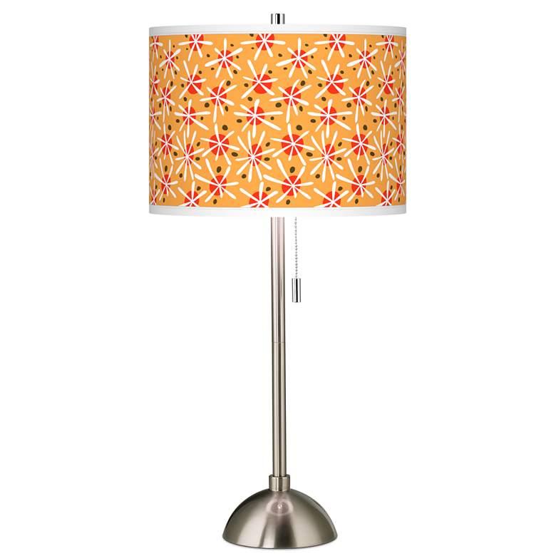 Seastar Giclee Brushed Nickel Table Lamp